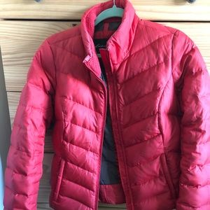 Eddie Bauer red puffer jacket, medium